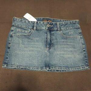 Lilu Denim Mini Skirt. Size 5